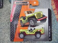 Matchbox 2014 #094/120 1943 JEEP WILLYS Life Guard lime green MBX Heroic rescue