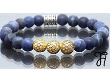 Armband Bracelet Perlenarmband Sodalit blau matt