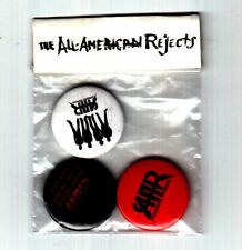 ALL-AMERICAN REJECTS Move Along UK promo only set of THREE button badges / pins