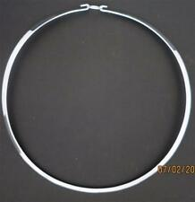 "18"" 925 Sterling Silver Round W/Clasp Necklace/Choker/Collar/Wire"