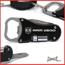 DODGE RAM 2500 Lasered Logo Keyring / Pocket Knife / LED Torch / Bottle Opener