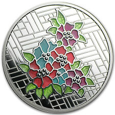 2014 1 oz Silver Canadian $20 Stained Glass Series - Craigdarroch Castle