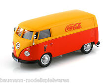 "1962 VW-Bus rot/orange - Sonderedition ""Coca Cola"" - Modellauto im Maßstab 1:43"