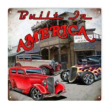 Built In America Hot Rod Garage Art Sign