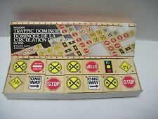 1986 Action Industries Wooden Traffic Dominoes
