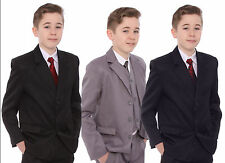 Boys suit 5 piece wedding suit prom page boy baby formal party 3 colours