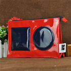 ESTEE LAUDER Red Makeup Cosmetics Bag, Lisa Perry Edition, Large Size, Brand NEW