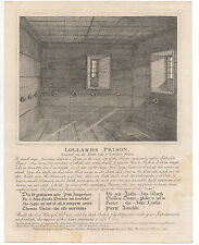 1791 Print of Lollard's Prison located in Lambeth Palace England