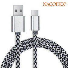 Nacodex USB 3.1 Braided Type-C Cable Fast Charging USB-C to USB-A 3FT(1m) -Silve