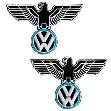 Lot of 2 VW Volkswagen Eagle Car Embroidered Iron on Patch