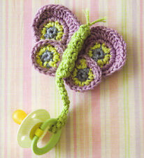 HANDY Baby Pacifier Holders/Clips/Crochet Pattern INSTRUCTIONS ONLY