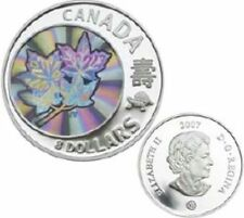 2007 Maple of Long Life $8 Fine Silver Coin in case with coa