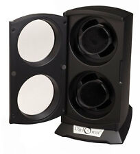 Black Diplomat Dual Watch Winder  Automatic Economy Double  Tower  New