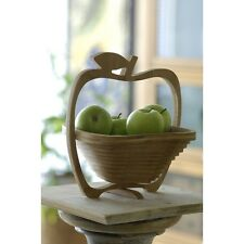 Obstkorb & Untersetzer aus Bambus in Apfelform -NEU-