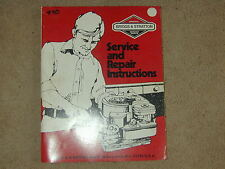 #80 Briggs & Stratton Service & Repair Instructions Manual