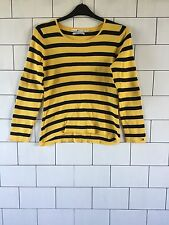 WOMEN'S TOMMY HILFIGER URBAN VINTAGE RETRO CHUNKY KNIT YELLOW JUMPER SIZE 10/12