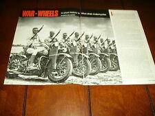 HARLEY DAVIDSON - INDIAN MILITARY MOTORCYCLE  ***ORIGINAL 1988 ARTICLE***