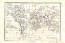 Planisphère Découverte Géographie XV Siècle Geography World MAP CARTE ATLAS 1874