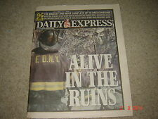 Daily Express newspaper 14th September 2001 Twin Towers. World Trade Centre