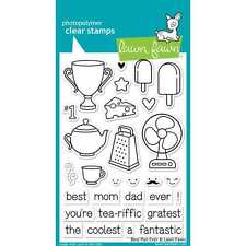 NEW LAWN FAWN BEST PUN EVER CLEAR ACRYLIC STAMP SET