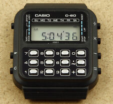 Casio C-60 Vintage Calculator Chrono Watch New Old Stock