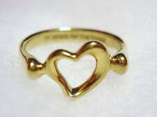 100% AUTHENTIC Tiffany & Co / Elsa Peretti 18k 18kt Gold Heart Ring Size=4.25
