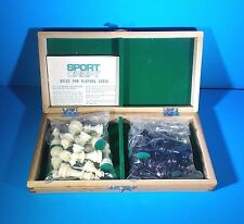 """SPORT CRAFT™ TRAVEL CHESS SET WOODEN BOARD, PLASTIC PIECES - 2.25"""" KING  1"""" PAWN"""