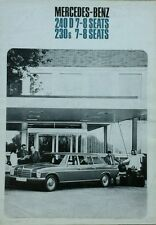 Mercedes Benz 240D & 230 Long wheelbase saloon Brochure - June 1974