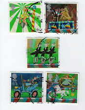 Gb stamps SG2275-2279, 2002 circus. multicolore set complet vfu