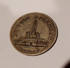 EARLY SPRINGFIELD IL RAILWAY TRANSPORTATION TOKEN LINCOLN'S TOMB DATES 1874-1894