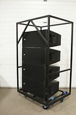 (4) RCF HDL20-A  Line Array Powered Loudspeakers HD20A  w/ Transport Cart