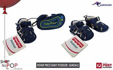 Fisher Price Baby Sandals Strap BNWT Blue Size 1 0-6 moths Cute Easy on?off