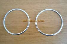 FITS VW T2 CAMPER BUS 67-79 CHROME SURROUNDS 2x ALLOY RINGS FOR THE AIR VENTS