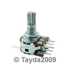 10K OHM Linear Dual Taper Rotary Potentiometers B10K 10KB POT ALPHA