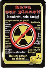 Atomkraft, nein danke! Metallschild 20x30 cm Retro Reklame Blechschild 588