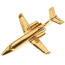Lear Jet Tie Pin  / Lapel Tiepin BADGE - Gold Plate