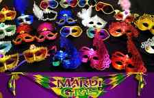 50 MASKS Wholesale Lot Mardi Gras Masquerade Hallowen, New Year's, Wedding Masks