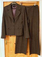 NEXT size 12 grey trouser suit - jacket and trousers, tailored, office business