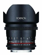 Rokinon Cine DS 10mm T3.1 Cine Wide Lens for Nikon DX Digital SLR - DS10M-N