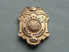 ANTIQUE BLAIR COUNTY PENNSYLVANIA  POLICE DEPARTMENT CONSTABLE WALLET BADGE