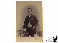 Cabinet Card Photo Leeds, England Fancy Dude with Watch Chain Portrait
