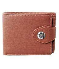 ALW High Quality Faux Leather Stylish Design Wallet with side closing - Brown