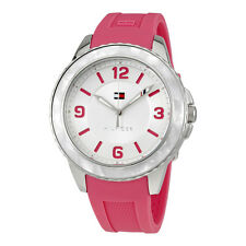 Tommy Hilfiger Harper Silver Dial Pink Silicone Ladies Watch 1781540