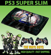 PLAYSTATION 3 SUPER SLIM ALICE MADNESS RETURNS WONDERLAND SKIN STICKER +PAD SKIN