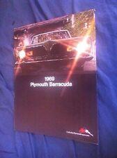 1969 Plymouth Barracuda Color Brochure Catalog Prospekt