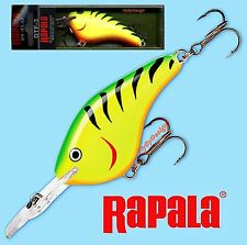 "Rapala Fire Tiger 2-3/4"" Flat Profile Dives-To 3 Ft Fishing Lure (DTF03 FT)"