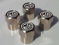 MG CAR ALLOY TYRE VALVE CAPS FOR TIRE VALVES