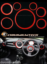 Mini cooper/s/one R55 R56 R57 R58 Coupe R59 Roadster Rojo Interior Anillo Kit Nuevo