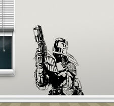 Judge Dredd Wall Decal Movie Superhero Vinyl Sticker Home Kids Art Poster 235hor