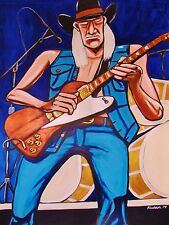 JOHNNY WINTER PRINT poster texas progressive blues to the bone cd gibson guitar